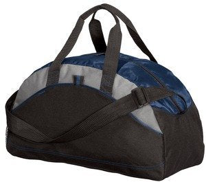 Port & Company Small Contrast Duffel, Navy, One Size