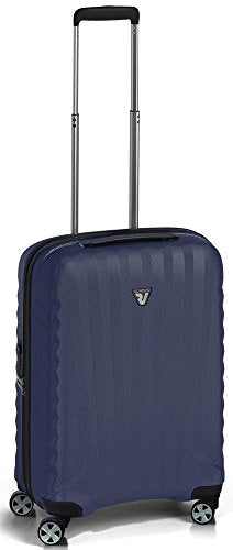 "Roncato Uno Zsl 22"" International Carry On Polycarbonate Spinner Dark Blue"