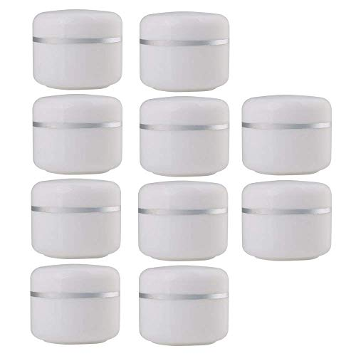 30 Gram Jar, 30 ML Jar, 10 pcs, BPA Free, Cosmetic Sample Empty Container, Plastic, Round Pot Cap
