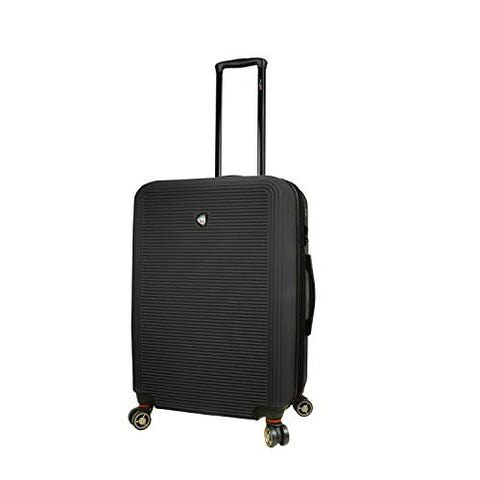 Mia Toro Italy Lumina Hardside 24'' Spinner Luggage, Black
