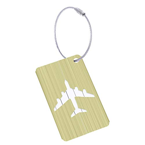 Carise Cute Luggage Tag Aluminum Alloy Air Plane Travel Suitcase Name ID Label Address Holder