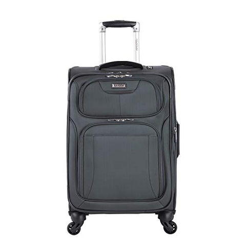 "Ricardo Beverly Hills Luggage Saratoga 21"" Carry On Suitcase, Graphite"