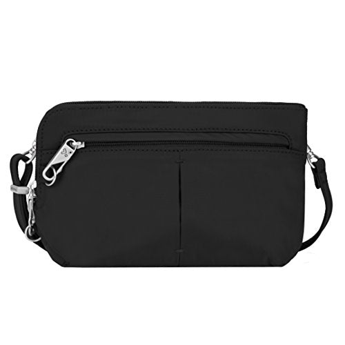 Travelon Anti-Theft Classic Convertible Crossbody and Waistpack, Black, One Size