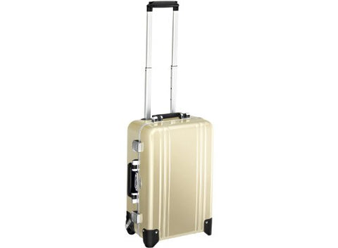 Zero Halliburton Classic Polycarbonate Carry On 2 Wheel Travel Case, Polished Gold, One Size