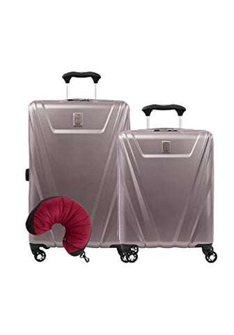 Travelpro Maxlite 5 Hardside 3-PC Set: Int'l C/O and Exp. 25-Inch Spinner with Travel Pillow (Dusty Rose)
