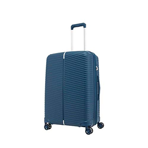 Samsonite Varro Spinner Unisex Medium Blue Polypropylene Luggage Bag GE6071002