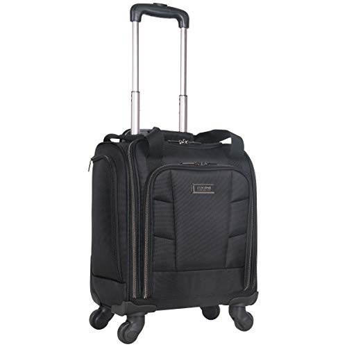 "Kenneth Cole Reaction 18"" Lightweight Multi-Pocket Anti-Theft RFID 14.1"" Laptop & Tablet Underseater Carry-On with USB Charging Port, Black"