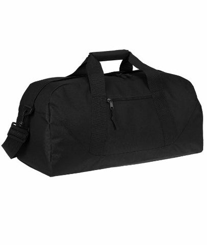 Ultraclub® Large Square Duffel Bag - Black