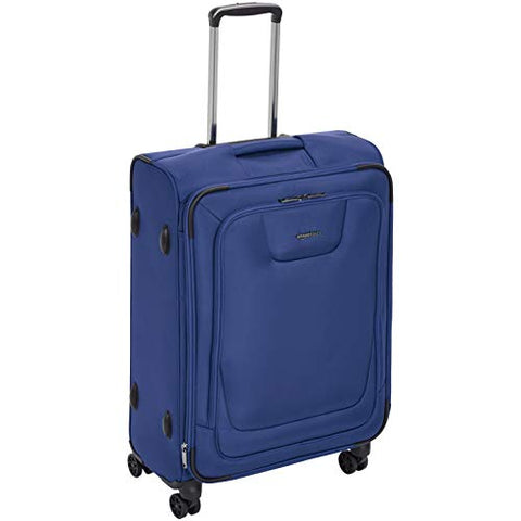 AmazonBasics Expandable Softside Spinner Luggage Suitcase With TSA Lock And Wheels - 25 Inch, Blue