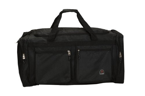 Rockland Luggage All Access 32 Inch Large Lightweight Cargo Duffel Bag, Black, One Size
