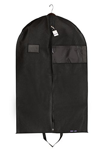 "Bags For Less Premuim Quality Black Garment Travel And Storage Breathable Bag 26"" X 42"" X 5"" With"