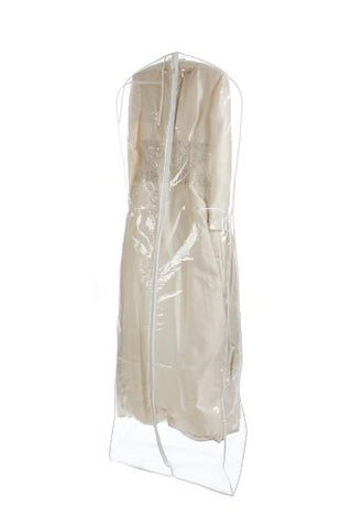 Bags for Less Heavyduty Clear Wedding Gown Garment Bag