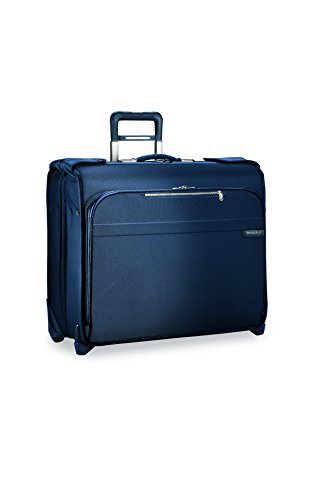 Briggs & Riley Baseline Deluxe Garment Bag, 2 Wheel, Navy