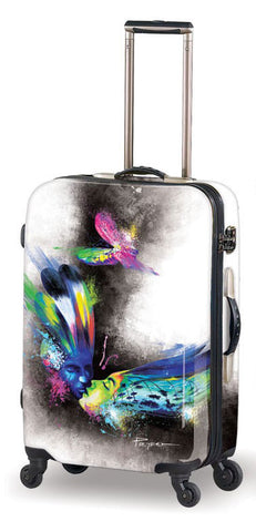 Mia Toro Prado Butterfly Kiss Hardside Spinner Carry On