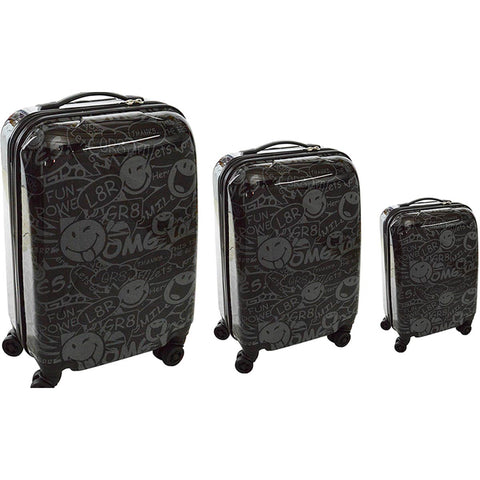 ATM Luggage Smiley World Stealth 3pc Set