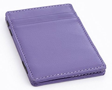 Royce Leather Magic Wallet In Leather, Purple