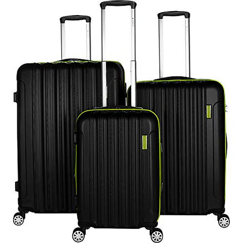 Gabbiano Hola Collection 3 Piece Expandable Hardside Luggage Set (Green)