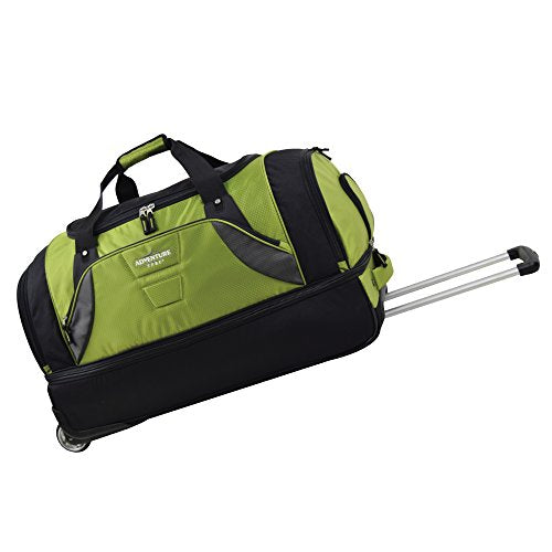 "TPRC 30"" Durable Rip-Stop Nylon Rolling Luggage Duffel Bag, 30 Inch, Green"