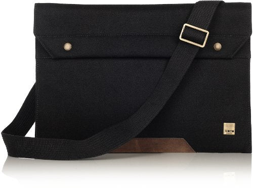 Knomo Balham Argal 13-Inch Laptop Sleeve with Strap, Black