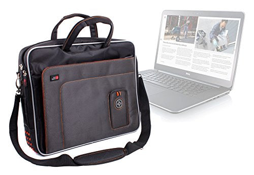 "DURAGADGET ""Travel"" Professional Quality 15.6"" Laptop Bag / Carry Case With Super Strong Padded Shoulder Strap, Multiple Compartments & Carrying Handle For Dell XPS 15 L501x, XPS 15 L502x, XPS 15z & XPS 15"