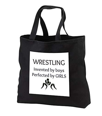 Carrie 3drose Merchant quote - Image of Wrestling Invented By Boys Perfected By Girls - Tote Bags -