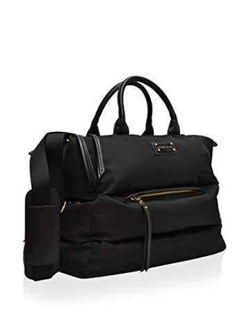 "Adrienne Vittadini Versailles Collection Quilted Duffle 18""L X 14"" W X 8"" D Black"