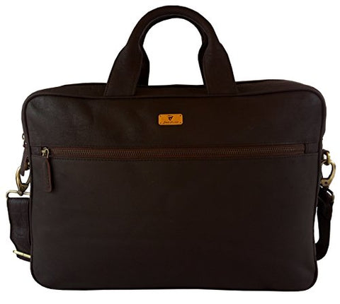 Devil Hunter 16 Inch Retro Buffalo Hunter Leather Laptop Messenger Bag Office Briefcase College Bag
