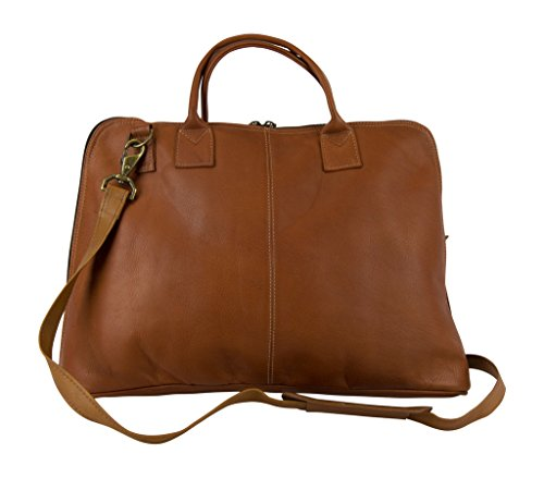 Latico Leathers Heritage Collection Slim Top-Zip Briefcase , Authentic Luxury Leather, Designer