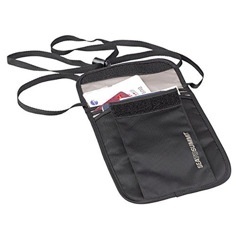 Sea To Summit Travelling Light Neck Wallet - Black