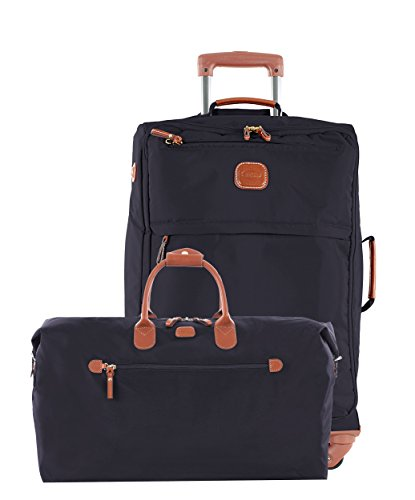 Bric's X Travel 21 International Carry On Spinner and Deluxe Weekender Duffel Set (Navy w/ Deluxe Duffle)