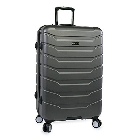 "Perry Ellis Traction Hardside Spinner Check in Luggage 29"", Charcoal"