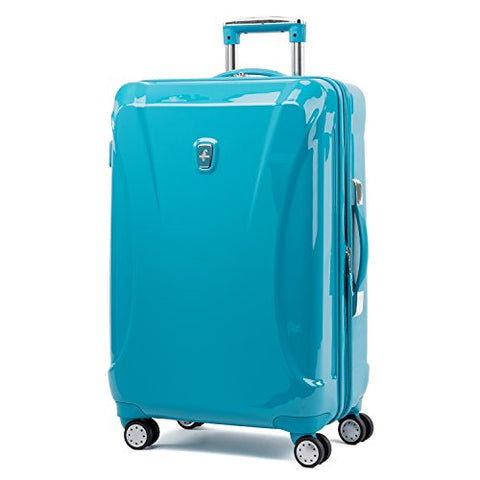 "Atlantic Ultra Lite Hardsides 24"" Spinner Suitcase, Turquoise Blue"