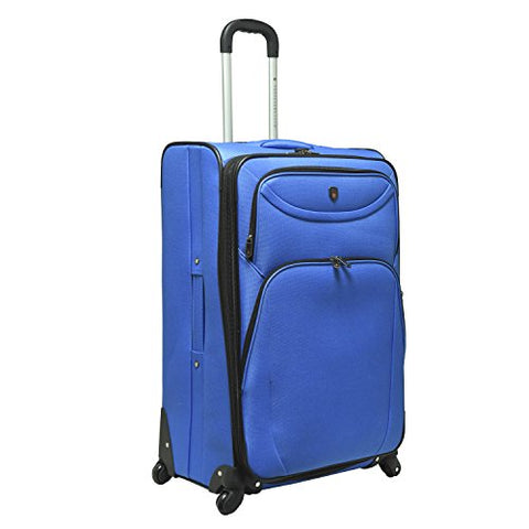 Travelers Club Luggage Marina 3-Piece Expandable Softside Spinner Value Set, Blue