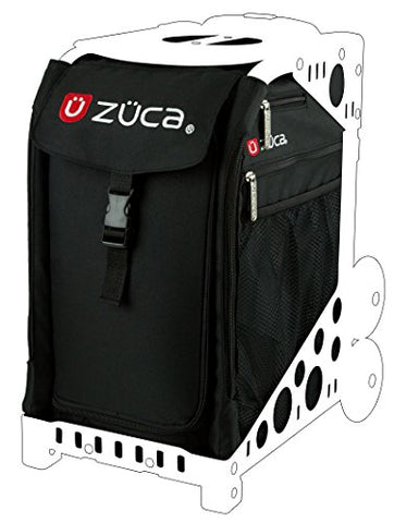 Zuca SIBO032 Sport Insert Bag Obsidian Black Logo Embroidery in Red White 89055900032
