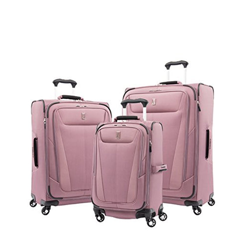 "Travelpro Luggage Maxlite 5 | 3-Pc Set | 21"" Carry-On, 25"" & 29"" Exp. Spinners (Dusty Rose)"