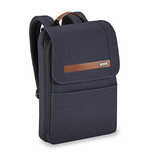 Briggs & Riley Kinzie Street Slim Expandable Backpack, Navy, One Size