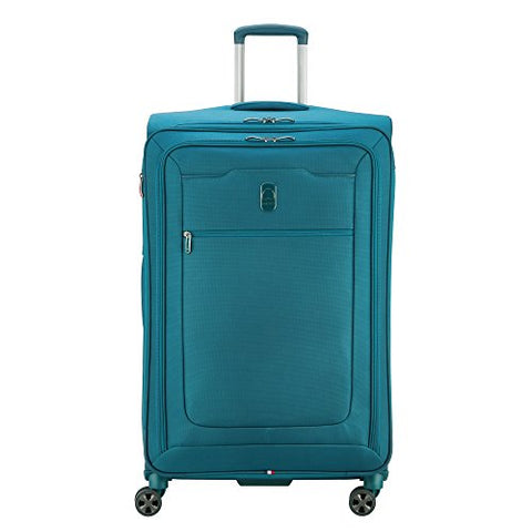 Delsey Luggage Hyperglide Large Checked Luggage Lightweight Spinner Suitcase, Teal Blue