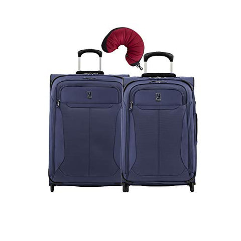Travelpro Tourlite 2-Piece Set: 22, 26-Inch Rollaboards And Travel Pillow (Blue)