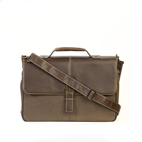 "Boconi Bryant Lte Leather Brokers Bag, 15"" Laptop Briefcase In Brown"