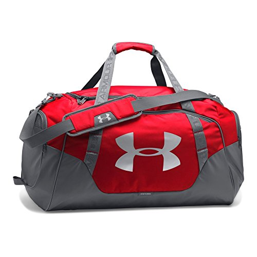 Under Armour Undeniable Duffle 3.0 Gym Bag, Red (600)/Silver,