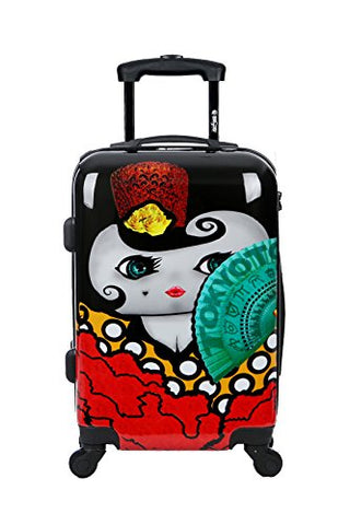 Carry-on Cabin Luggage 55x35x20 Suitcase 20 inch Approved Lightweight 4 Wheel Hard Case Kids Small Size Children Powerbank Charger Prepared FLAMENCA TOKYOTO LUGGAGE (TROLLEY + CHARGER)
