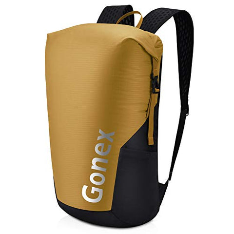 Gonex 35L Packable Travel Daypack, Lightweight Handy Backpack for Outdoor Hiking Cycling Mustard