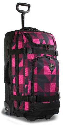J World New York Vinewood Rolling Duffel, Block Pink, One Size
