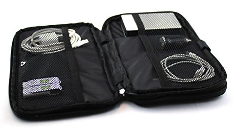 Electronic Travel Organizer - Padded Travel Bag With Expandable Zippered Compartments And Mesh