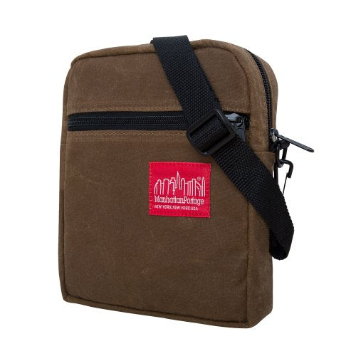 Manhattan Portage Waxed Canvas City Lights Bag, Field Tan