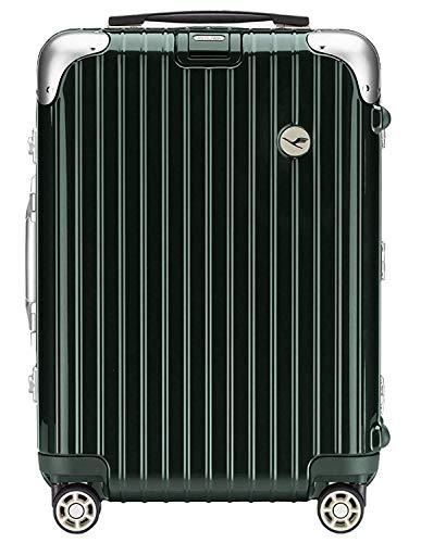 RIMOWA Lufthansa Elegance Collection suitcase carry on cabin trolley 37L Racing green
