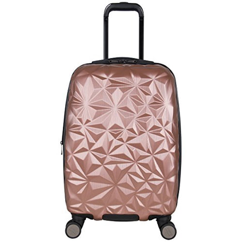 "Aimee Kestenberg Women'S 20"" Abs Expandable 8-Wheel Upright Carry-On Luggage, Rose Gold"