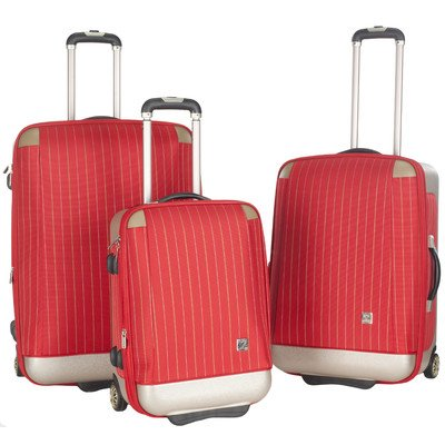 3-Pc Oneonta Luggage Set In Red