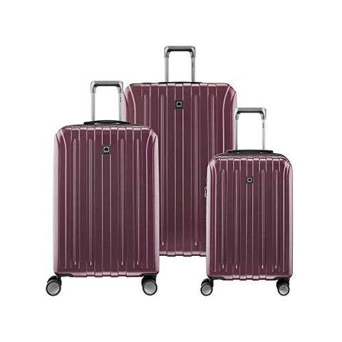 "Delsey Luggage Titanium 3-Piece Luggage Set (21"" Carry-on, 25"", 29""), Purple"