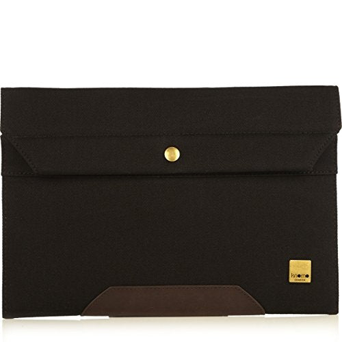 KNOMO Balham Surface Envelope Black Canvas